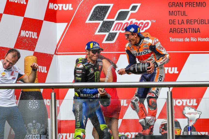 Marc Marquez, Valentino Rossi, Gran Premio Motul de la República Argentina