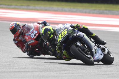 Rossi vs Dovizioso : Le dépassement de la deuxième place