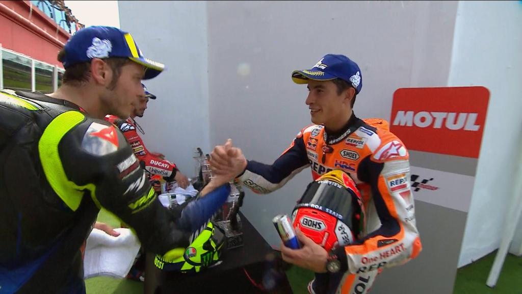 TC Marquez-Rossi podium