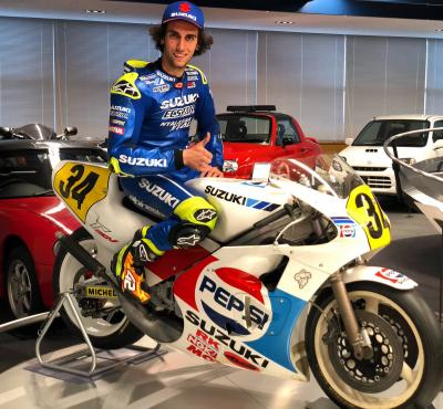 Awesome to feel the @suzukimotogp 500cc of the legend in