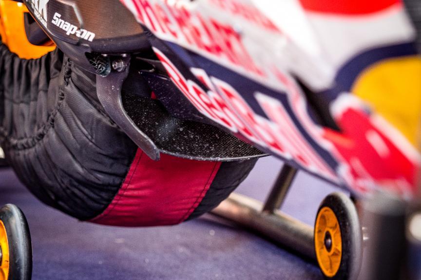 Swingarm, Marc Marquez, Repsol Honda Team, Red Bull Grand Prix of The Americas, © Tom Morsellino