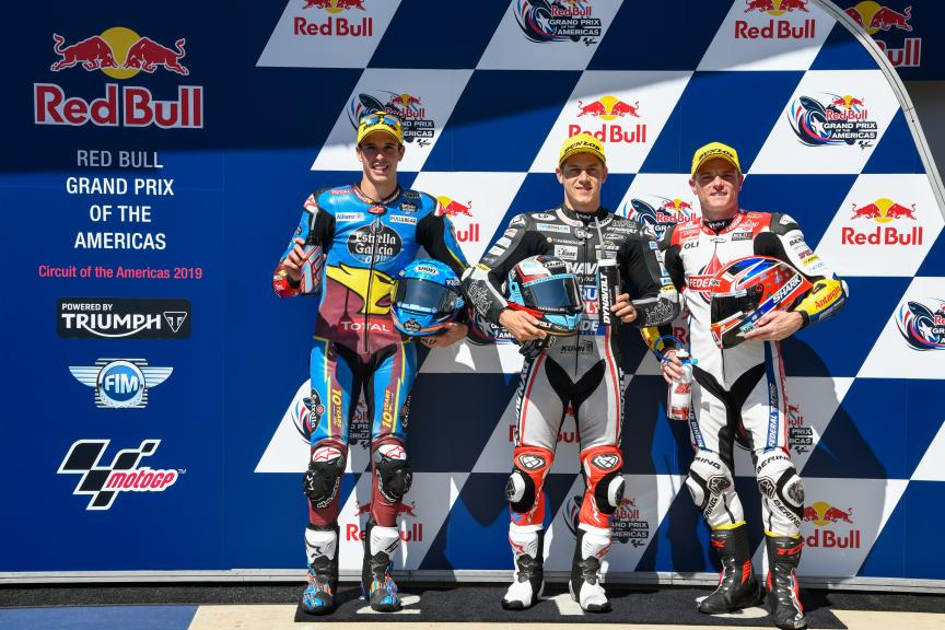 Marcel Schrotter, Alex Marquez, Sam Lowes,Red Bull Grand Prix of The Americas