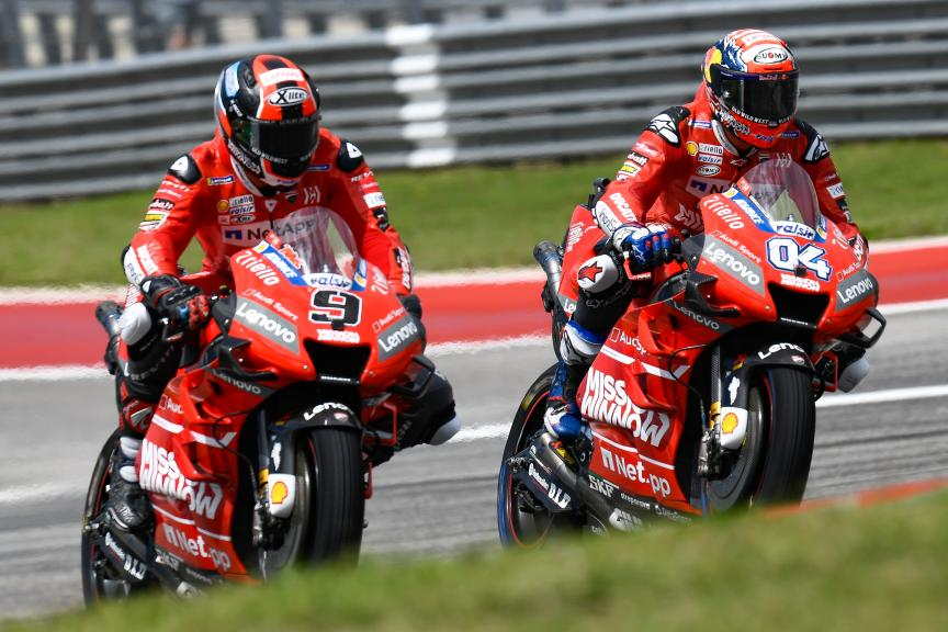 Andrea Dovizioso, Danilo Petrucci, Mission Winnow Ducati, Red Bull Grand Prix of The Americas