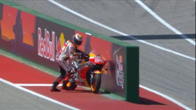 El sufrido 'sprint' de Lorenzo por los problemas de su Honda