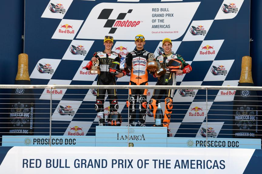 Aron Canet, Jaume Masia, Andrea Migno, Red Bull Grand Prix of The Americas