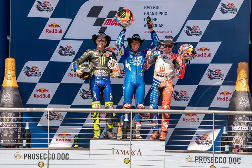 Alex Rins, Valentino Rossi, Jack Miller, Red Bull Grand Prix of The Americas