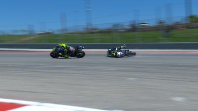 FREE: Crutchlow goes down fighting with Rossi