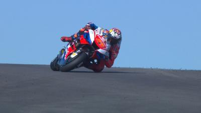 SAVE: Miller does a Marquez in Warm Up