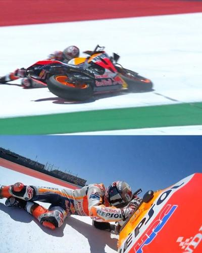 It didn't quite go to plan for @marcmarquez93 yesterday at