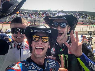 Your #MotoGP cowboys // WHAT a race!! @alexrins takes his