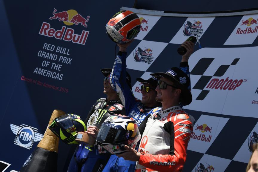 Alex Rins, Valentino Rossi, Jack Miller, Team Suzuki Ecstar, Red Bull Grand Prix of The Americas