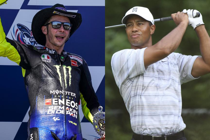 Tiger woods vs Valentino Rossi