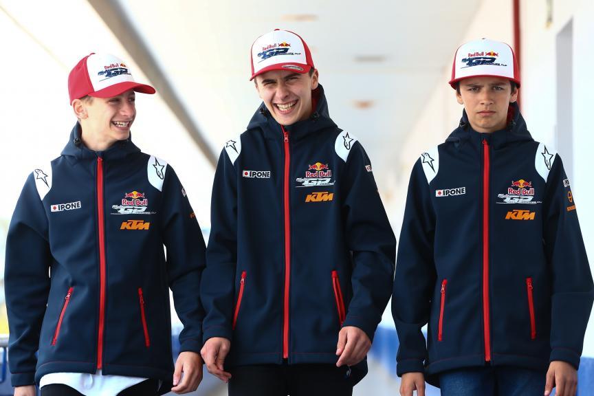 Lorenzo Fellon, Clement Rouge, Gabin Plaques, Red Bull MotoGP Rookies Cup