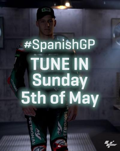 The poleman @fabioquartararo20 is ready for the #SpanishGP race //