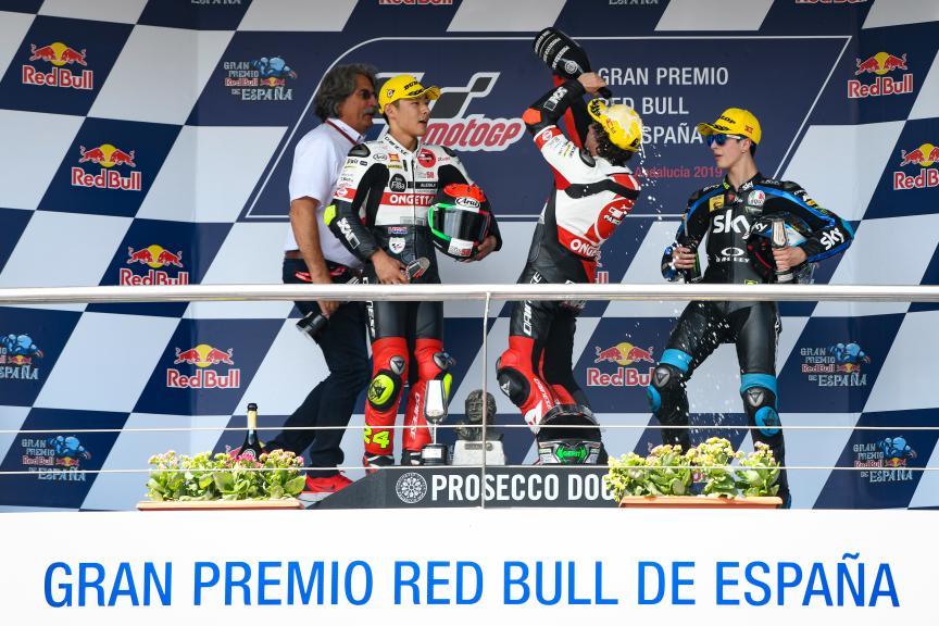 Niccolo Antonelli,Tatsuki Suzuki,Celestino Vietti, Gran Premio Red Bull de España