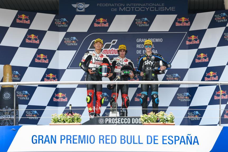 Niccolo Antonelli, Tatsuki Suzuki, Celestino Vietti, Gran Premio Red Bull de España