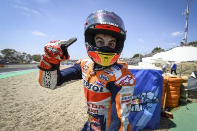 Márquez lidera un podio español en Jerez con Rins y Viñales