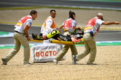 Iannone out of Spanish GP after FP4 crash