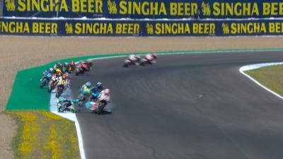 Moto3™: Ramirez crashes big at T5 - rider lucky and OK
