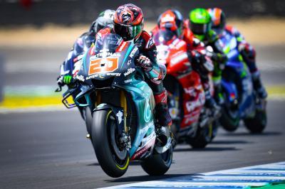Quartararo leads Marquez at midday