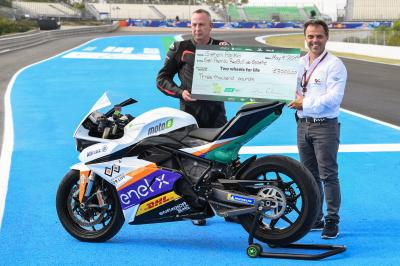 La experiencia de MotoE™ en Jerez con Two Wheels for Life