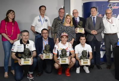 Márquez, Pedrosa y 'Aspar', galardonados en Jerez