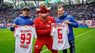 Márquez en visite surprise sur un match de Bundesliga