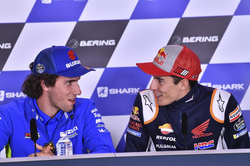 Alex Rins, Marc Marquez, SHARK Helmets Grand Prix de France