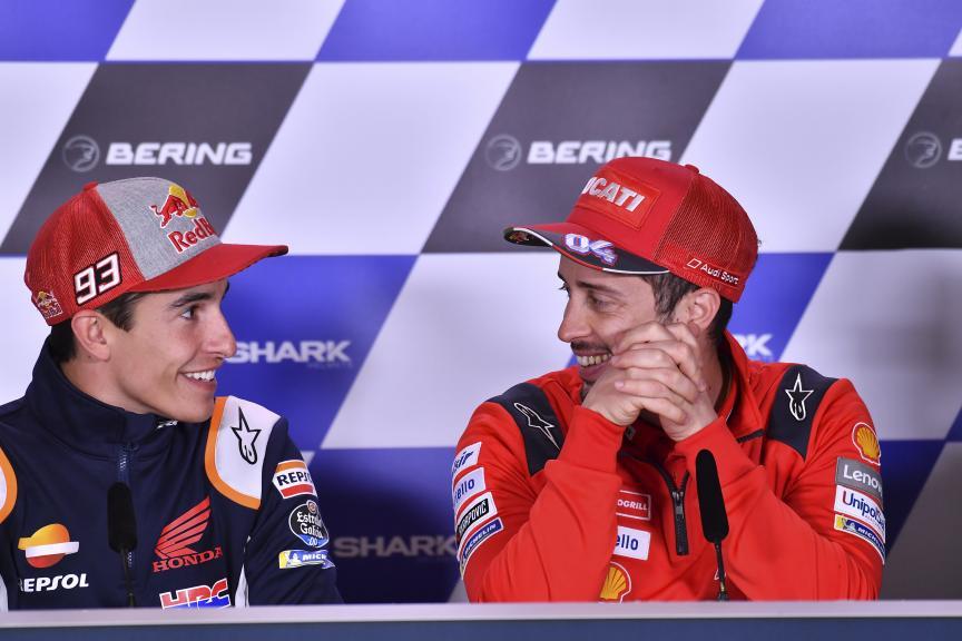 Andrea Dovizioso, Marc Marquez, SHARK Helmets Grand Prix de France