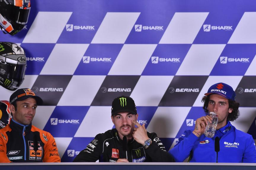 Johann Zarco, Maverick Vinales, Alex Rins, SHARK Helmets Grand Prix de France