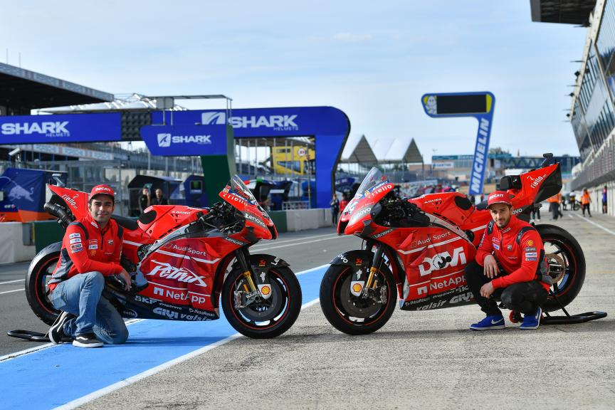Andrea Dovizioso, Danilo Petrucci, Mission Winnow Ducati, SHARK Helmets Grand Prix de France