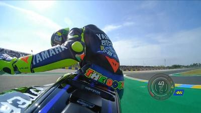 FREE: Rossi's chain flies off in FP1!
