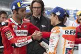 Marc Marquez, Repsol Honda Team, Danilo Petrucci, Ducati Team, SHARK Helmets Grand Prix de France