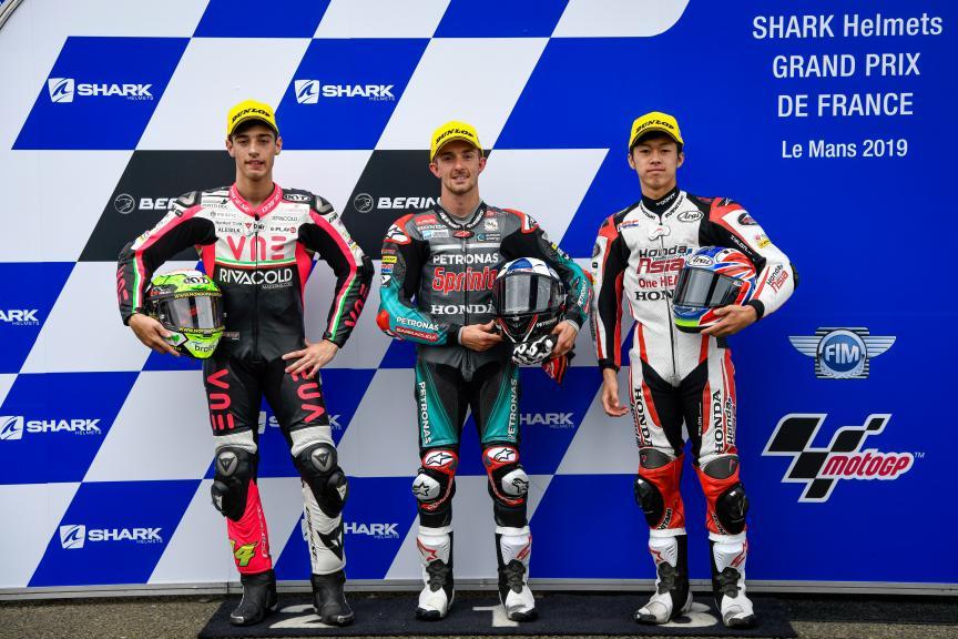 John McPhee, Tony Arbolino, Ai Ogura, SHARK Helmets Grand Prix de France