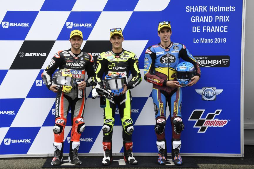 Jorge Navarro, Tom Luthi, Alex Marquez, SHARK Helmets Grand Prix de France