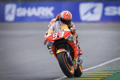 Márquez retoma el control y Rins acelera hacia la Q1