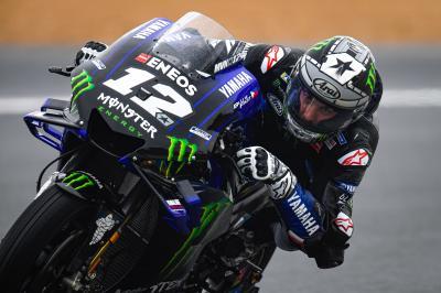 La lluvia confirma a Viñales y empuja a Rossi y Rins a la Q1