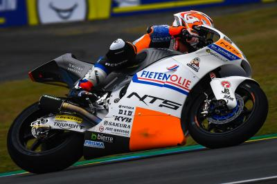 Odendaal quickest on drying track in Moto2™ FP3
