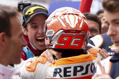 Celebrate a double podium with the Marquez family!