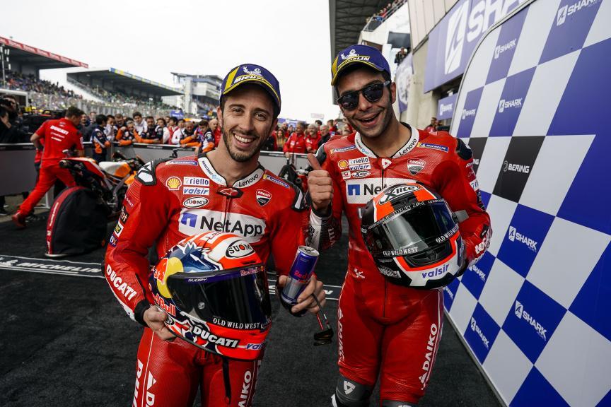 Andrea Dovizioso, Danilo Petrucci, SHARK Helmets Grand Prix de France