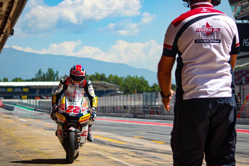 Sam Lowes, Federal Oil Gresini Moto2, Circuit de Barcelona - Catalunya Private Test