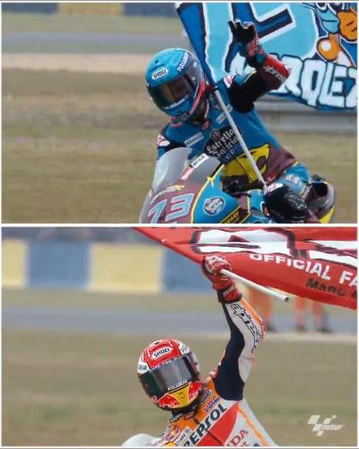 It was a double delight for the Marquez' brothers @marcmarquez93