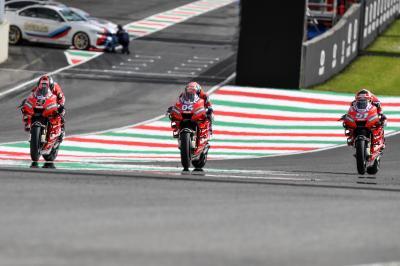 Dovizioso, Petrucci and Pirro ride through Tuscany