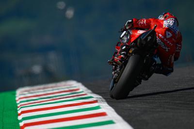 Sonrisas y lágrimas para Ducati en las colinas de la Toscana