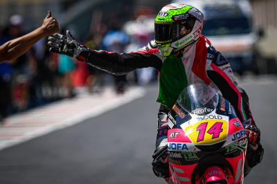 Thrilling Moto3™ race sees Arbolino take first ever win