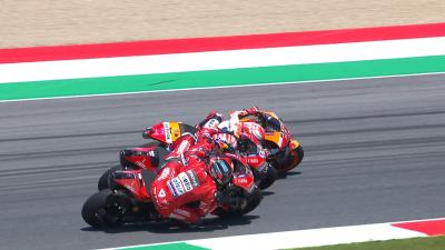 Petrucci's smart move to stop Marquez at the Italian GP