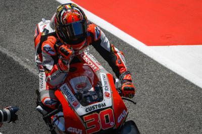 Nakagami impresiona con su primer Top 5 en MotoGP™