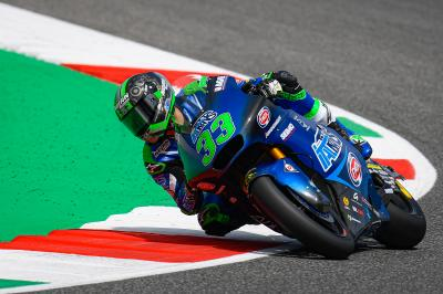 Rookie Bastianini heads Moto2™ Warm Up, Baldassarri 20th