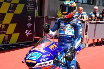Rodrigo holds on to become seventh Moto3™ poleman of 2019