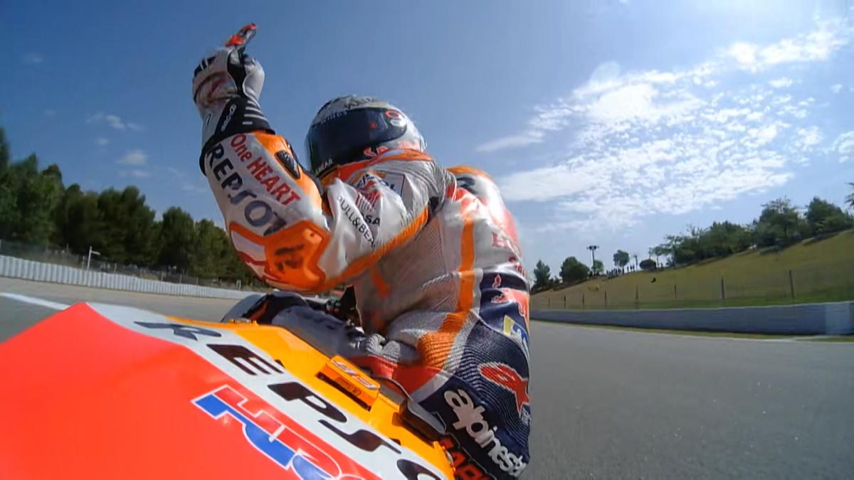 Marc Marquez talks about the FP3 moment with Lorenzo